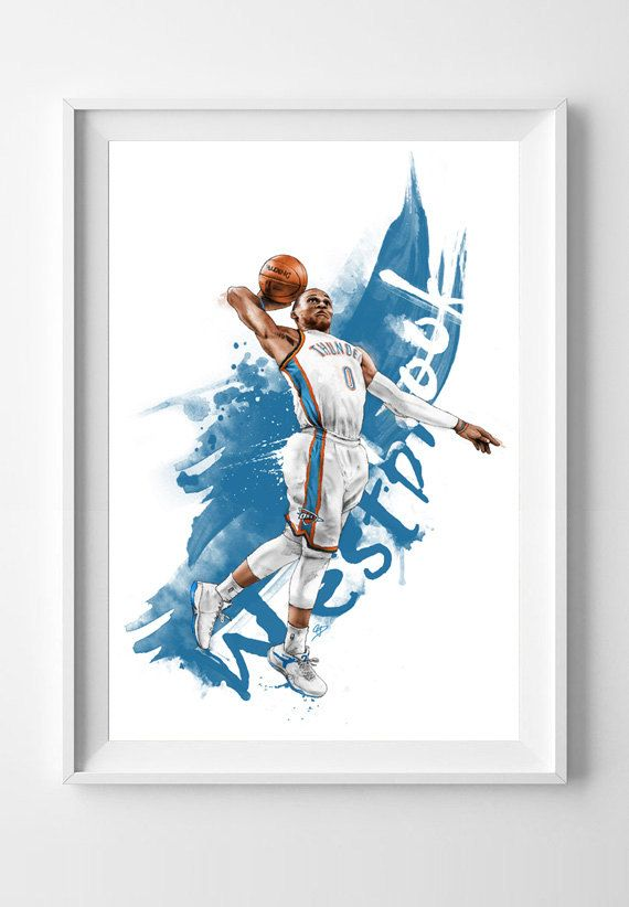 Russell Westbrook of the Oklahoma Thunder by IllustrationsbyChris