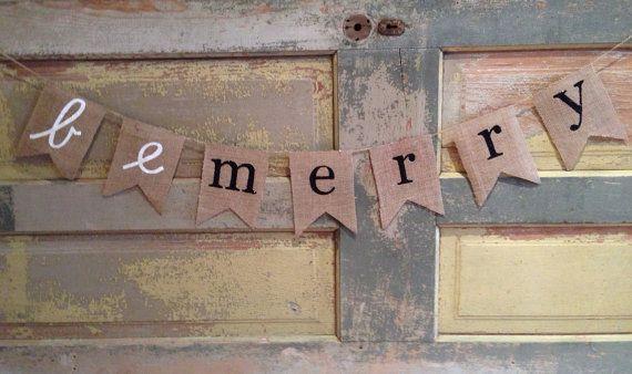 Christmas Banner / Be Merry / Merry Christmas