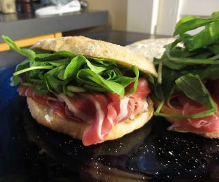 Prosciutto and arugula sandwich | Sandwiches | Pinterest