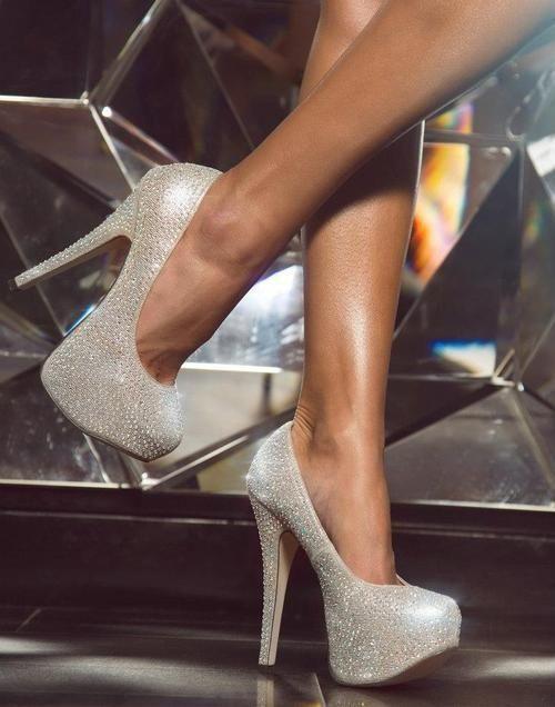 Giuseppe Zanotte sparkly silver heels