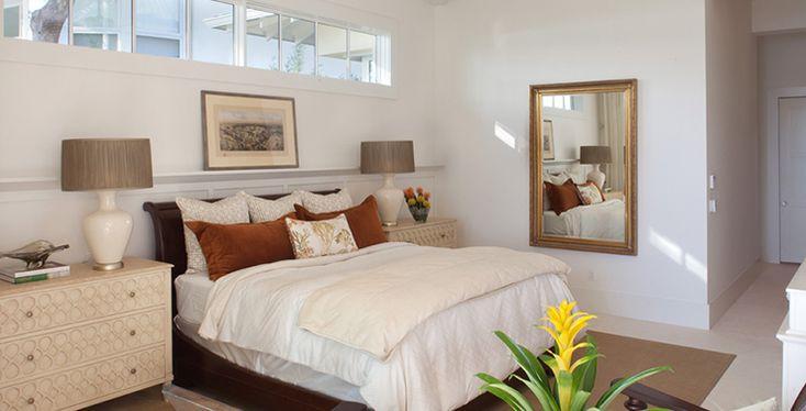 Une des chambres de cette exotique et chic maison de vacances