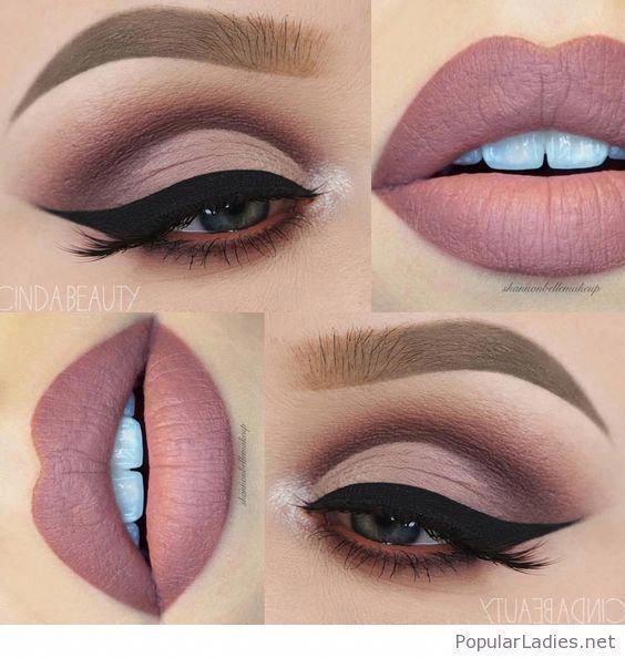 Nackte Augen Make-up, nackte Lippen, perfekte Kombination #Eyemakeup #naturaleye…