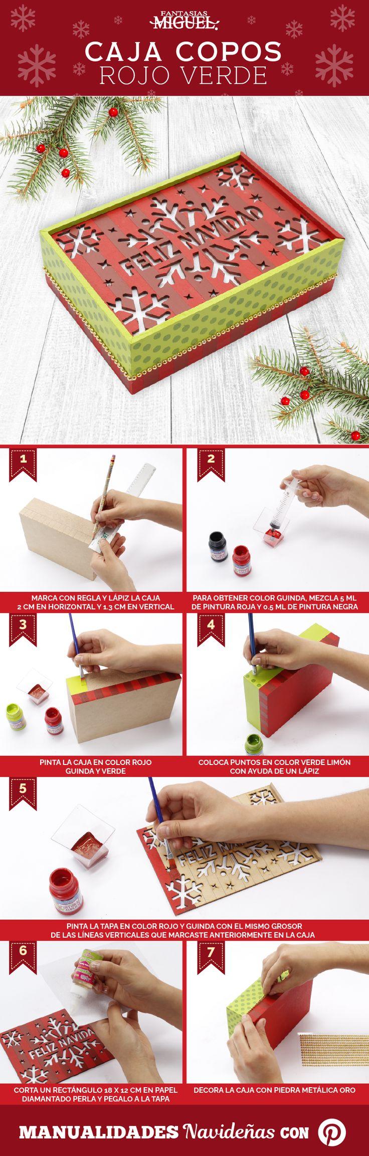 ¡Crea una increíble caja de copos y dale un toque fantástico! Christmas Ideas, Diy, Home Decor, Cellophane Bags, Plastic Crates, Wooden Crates, Pintura, Art, Flower Vases