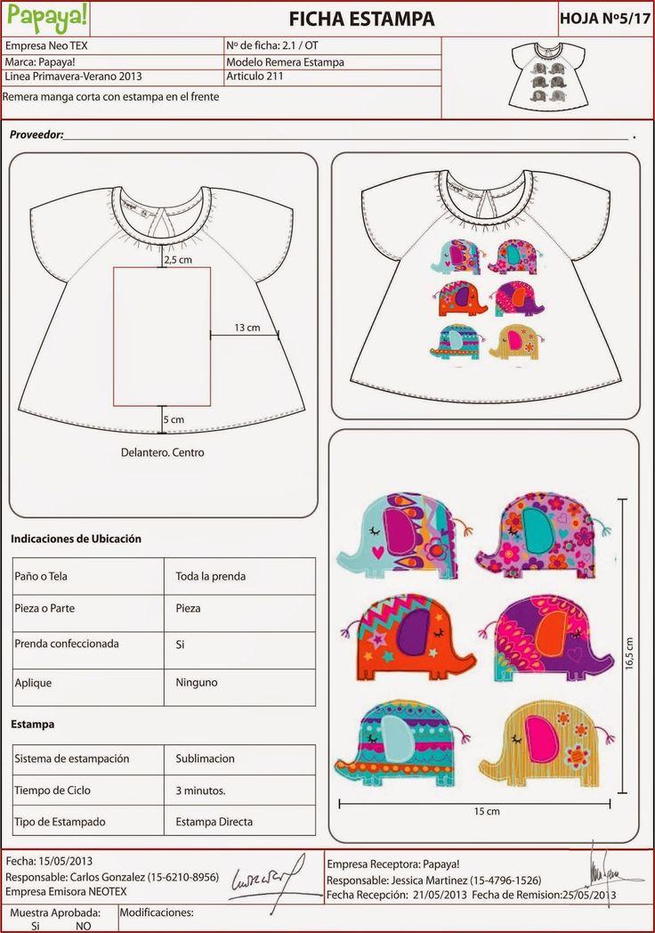 Fichas Técnicas TP niños OLIVIA DUVIEILH DISEÑO Diseñadora de Indumentaria FADU