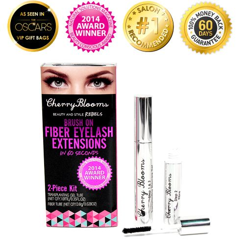 Eyelash Extensions - Brush on Fiber Lashes by Cherry Blooms