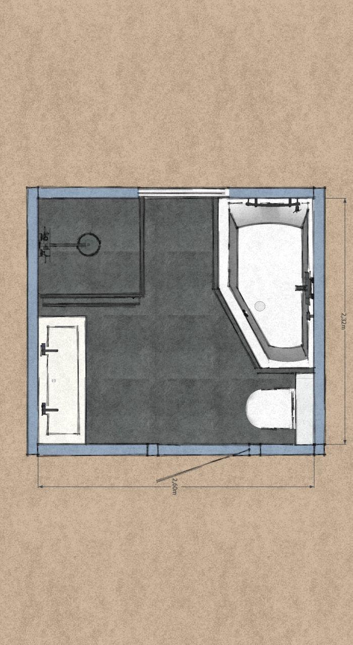 Pin Op Badkamer Plattegrond Indeling En Ontwerp