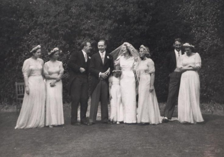 Ursula Longstaff Longstaff's wedding day with John Bowlby and bridesmaids
