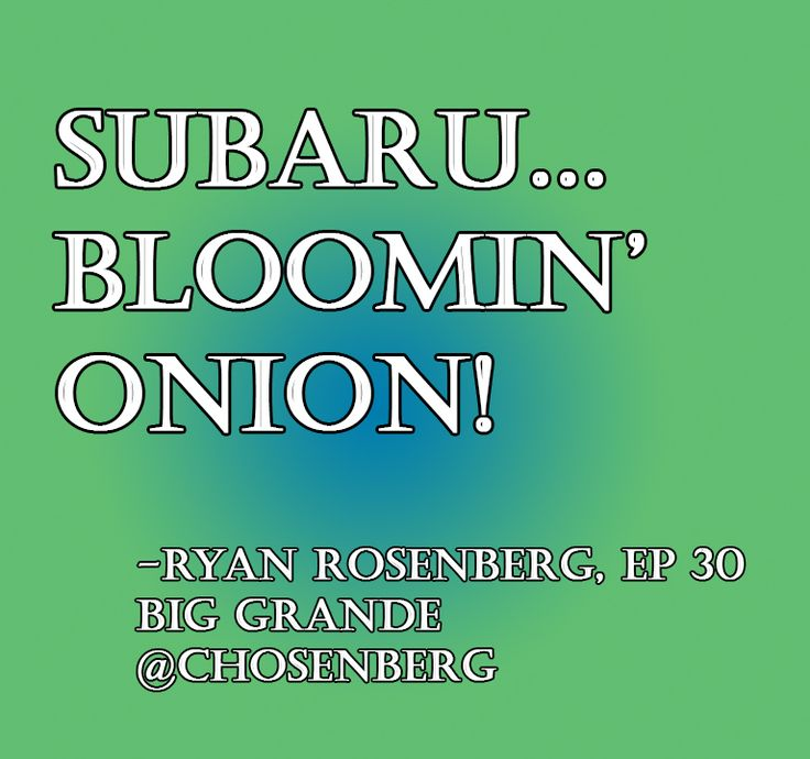 Ryan Rosenberg has a new slogan for Subaru!  itunes.apple.com/us/podcast/the-improv-friend-zone/id587692332?mt=2