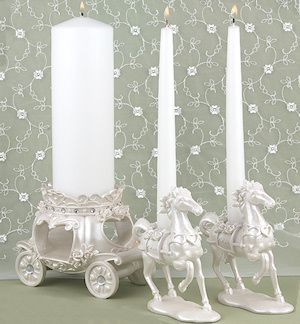 Cinderella wedding unity candle set. #Cinderella #wedding #theme