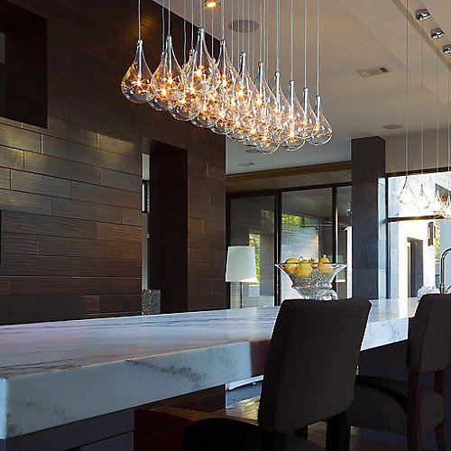 Larmes Multi Light Pendant In 2019 Girin Modern Kitchen Lighting Island