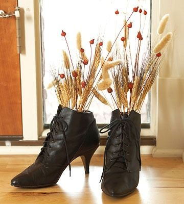 So, this is what you do with those boots you bought and never wear!  LOVE!