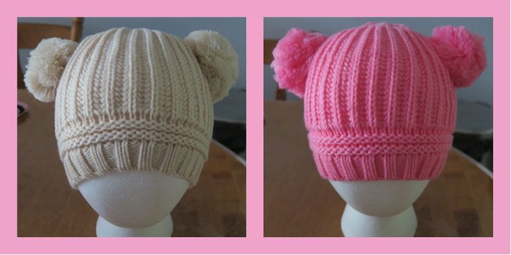Cute winter hats with pom-poms Kids Apparel By Avo