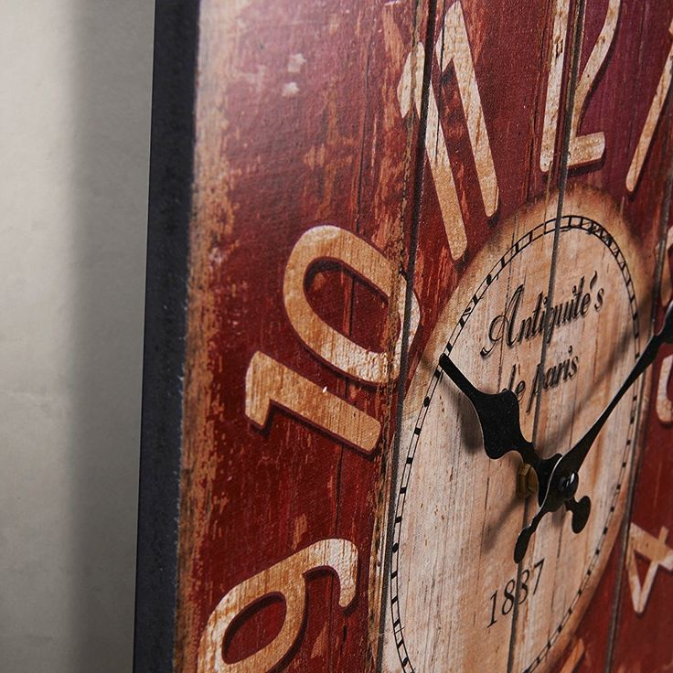 Vintage Wall Clock Home Decor