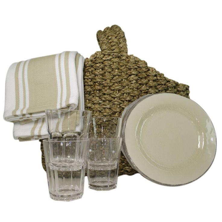 TAG Picnic Basket Set for Four, 13 piece