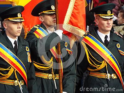 Picture from Romania national day with military parade at bucharest, constitutiei Square.  This year attended 2100 soldiers from all romanian  force power structure.