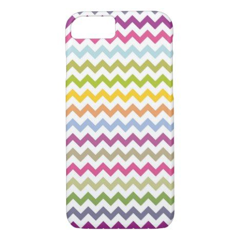 Cute Rainbow Chevron Pattern iPhone 8/7 Case #chevron #iphone #cases #protectiion