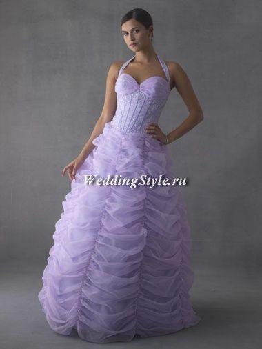 Нежно лиловое платье
