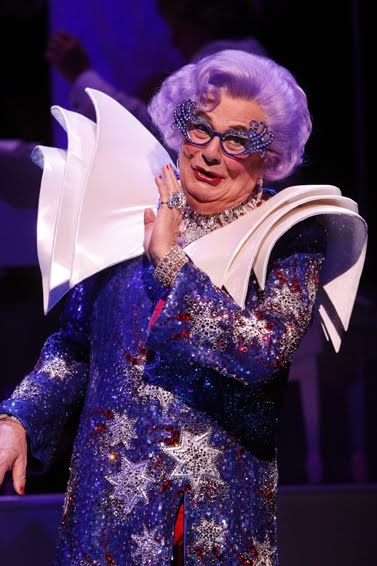 "Dame Edna Opera House dreess from ""All About Me"" - Photo by Joan Marcus. March 2010, New York. Soured from http://dame-edna-lookalike.blogspot.com/2010_03_01_archive.html"