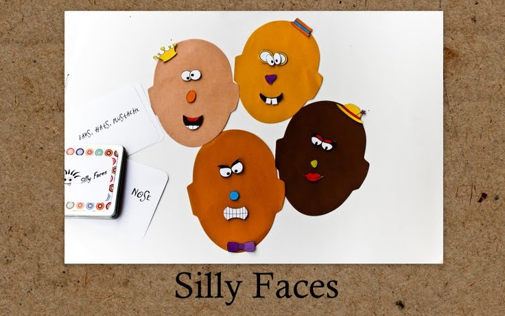 Magnetic silly faces with printable face parts