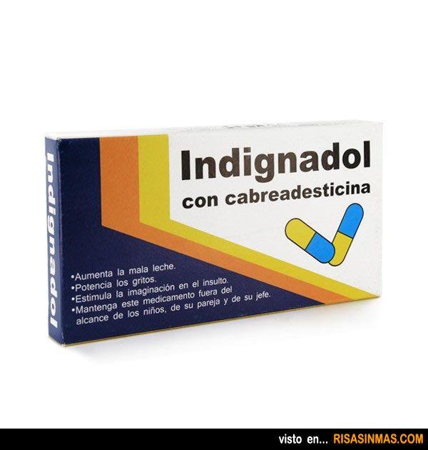 Indignadol, el medicamento que se ha agotado en España a las horas de salir a la venta.