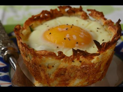 Hash Brown Breakfast Cups Recipe Demonstration - Joyofbaking.com - YouTube