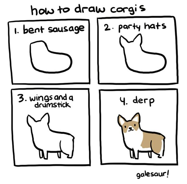 Corgis. | 17 Diagrams That Will Help You Draw (Almost) Anything