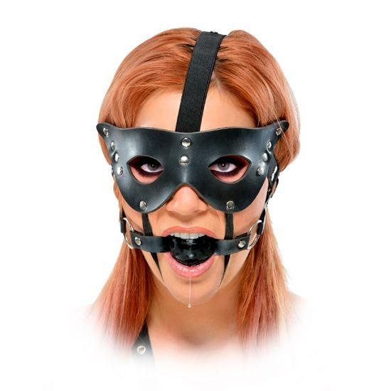 """MORDAZA MÁSCARA COMPLEMENTO #BDSM. Deja con la """"boca abierta"""" a Tu Amante gracias a esta pieza de Sumisión súper irresistible. Precio: 19,90€."""