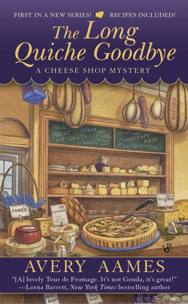 #1 in Cheese Shop Mystery series, Agatha Award best first novel - a cozy mystery my Dad bought for me. Good series!