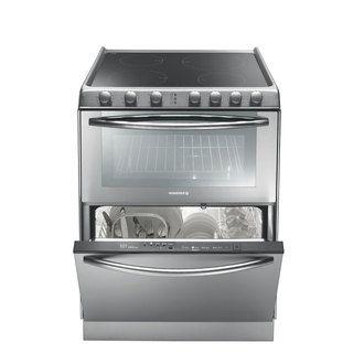 Cuisini�re vitroc�ramique 4 foyers �lectriques + four 39 litres + lave vaisselle 6 couverts