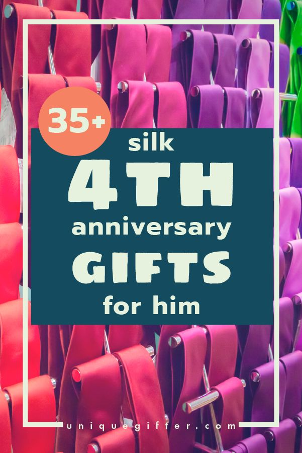 This is an excellent list of 35+ silk 4th anniversary gifts for him - my husband and I love to stick with traditional anniversary gift ideas!