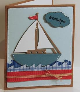 Cricut Grandpa Card. Life's A Beach Cartridge.  *