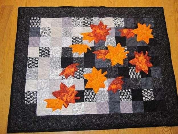 Manteles de patchwork: Fotos de diseños - Idea de mantel de patchwork para el otoño