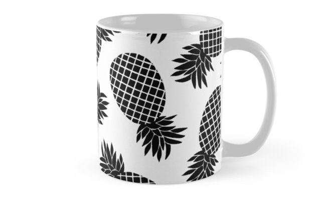 Pineapple minimal pattern. Black and white summer botanical print. • Also buy this artwork on home decor, apparel, phone cases, and more.Pineapple black and white summer pattern. @redbubble #redbubble #pattern #summer #print #pattern #pineapple #white #black&white #redbubble #printmaker #print #fashion #trends #mug #coffee