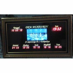 Jam digital masjid jual jadwal sholat digital otomatis murah Tasikmalaya