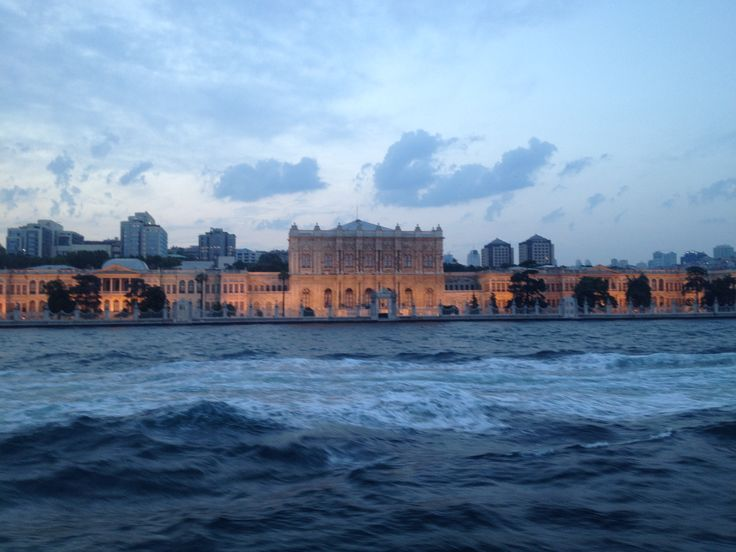 A Turkish Palace as seen from the Bosphorus Strait in Istanbul, Turkey.