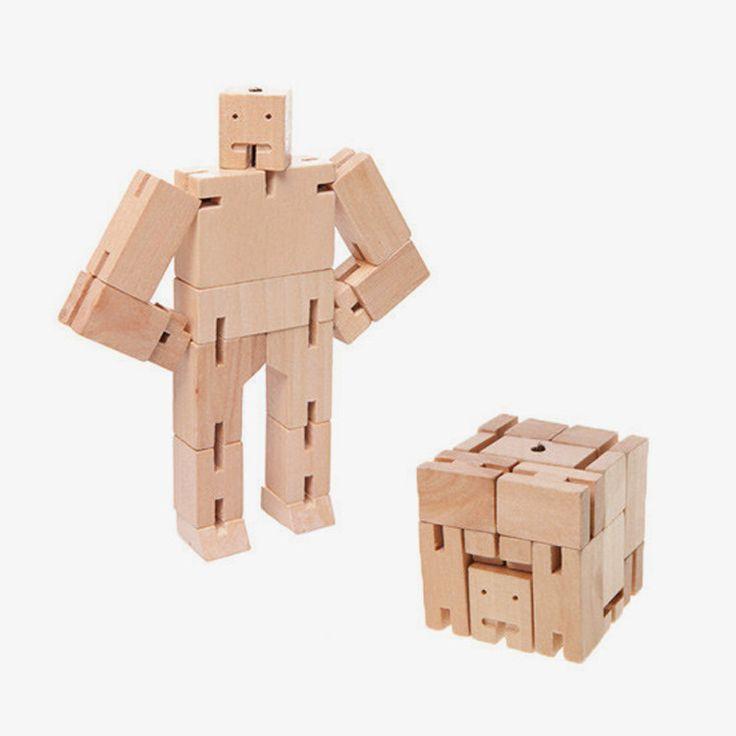 Cubebot micro van Areaware - natural
