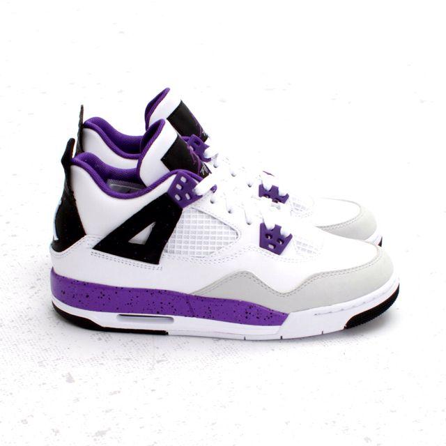 newest 62f38 15a63 ... Nike Air Jordan 4 IV GS Ultraviolet Grey 487724-108 Sz 4-7Y NEW . ...