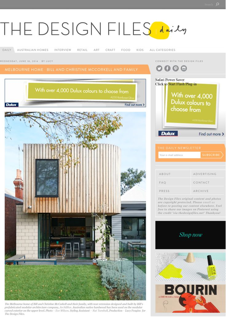 The Design Files | Bill and Christine McCorkell's ArchiBlox Home | Balaclava House | TDFs