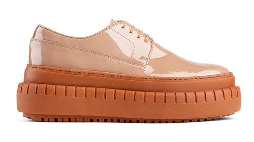 Acne Studios Sacha dusty pink Platform lace-up shoes