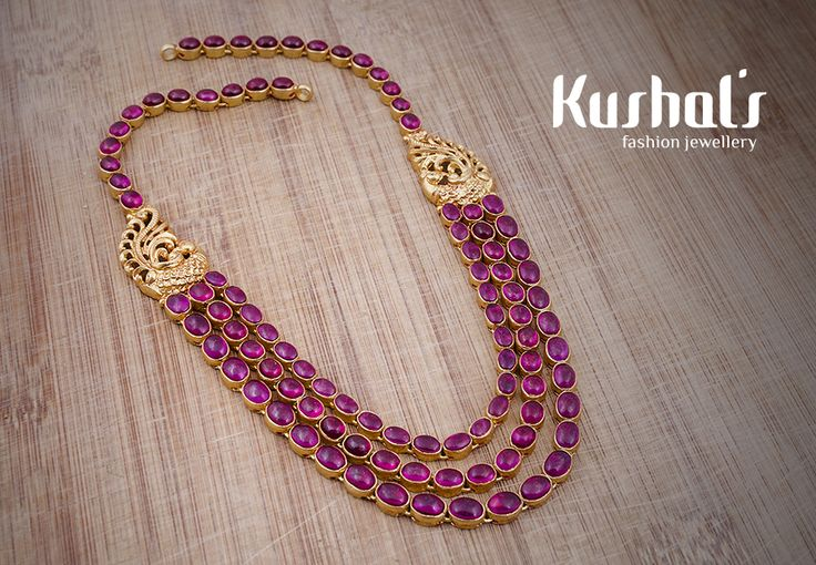 #Silver #TempleJewellery from #Kushals #FashionJewellery #Necklace Design No 50189