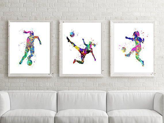 Charmant Soccer Girl Print, Printable, Girl Soccer Poster,Soccer Watercolor,Girl Soccer  Wall Art,Printable Soccer,Soccer Party,Soccer Art,Soccer Gift Hello!
