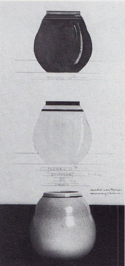 1923, design for a vase by C. van Muyen for Duinvoet, The Hague.