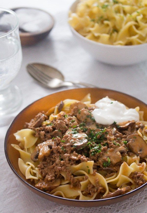Beef Stroganoff With Ground Beef And Mushrooms Recipe Beef Stroganoff Ground Beef Stroganoff