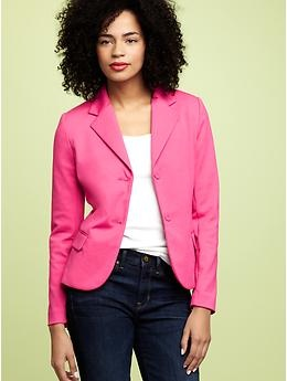 Switch out the buttons for some bronze, older look.Light Pink Blazers, The Gap, Favorite Pink, Pink Blazers Cut, Bright Pink, Green Blazers, Hot Pink, Bright Colors, Bright Blazers