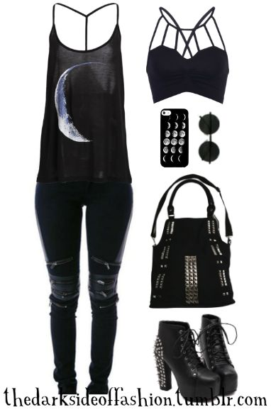 """She was like the moon – part of her was always hidden away."" D.R. (links below) Top $25 / Pants $65 / Bralette $16 / Phone Case $4 / Sunglasses $10 / Bag $27 / Boots $36"