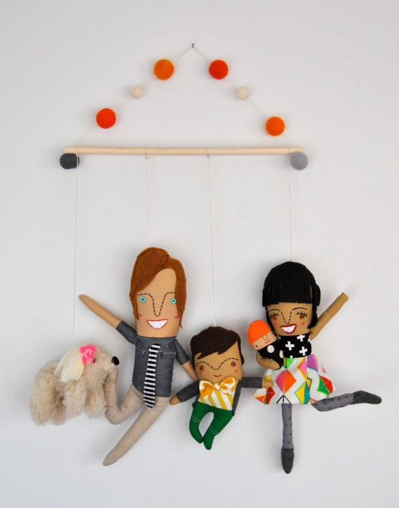 Personalized Family Wall Hanging // by PinkCheeksStudios