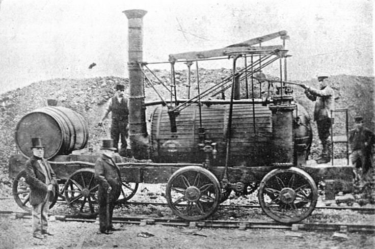 """The original """"Puffing Billy"""" from 1813. Built by Blackett for Wylam Colliery, Northumberland."""