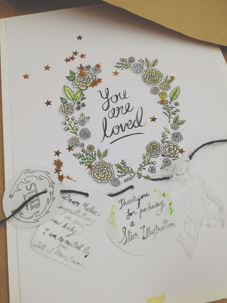 You are loved! -Steer Illustrations