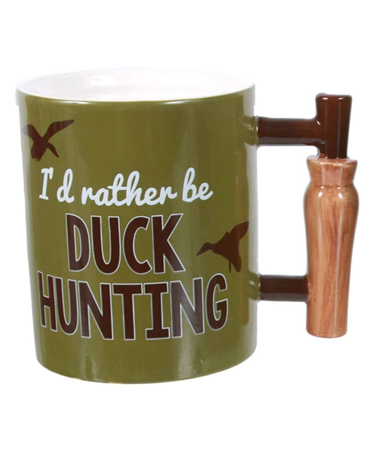 Love this Ceramic 'I'd Rather Be Duck Hunting' Duck Call Handle Mug by DEI on #zulily! #zulilyfinds