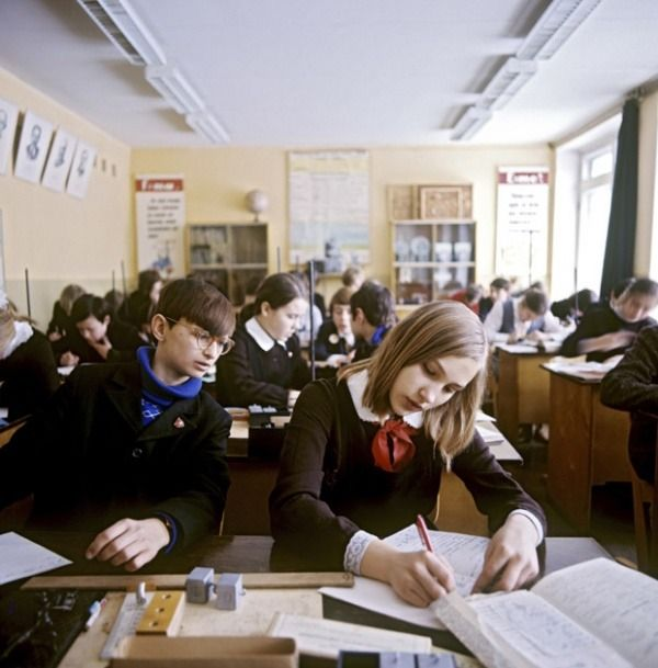 Chemistry lesson, Moscow, 1975